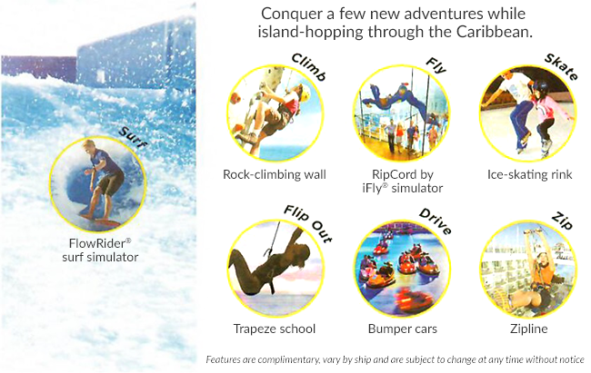 Conquer a few new adventures while  island-hopping through the Caribbean